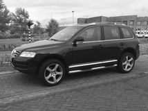 Schwarzes Volkswagen Tiguan Lizenzfreies Stockbild