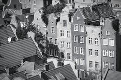 Schwarzes Weiß Gdansks Lizenzfreie Stockfotografie