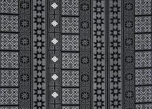 Schwarzes weißes Gewebemuster Stockfoto