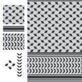 Schwarzes weißes nahtloses Muster Palästinas Keffieh lizenzfreie abbildung