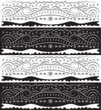 Schwarzes weißes abstraktes Rollen-Muster Lizenzfreie Stockfotos