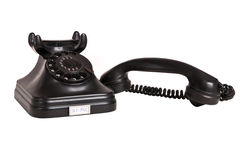 Schwarzes Weinlesetelefon 2 Lizenzfreie Stockfotografie