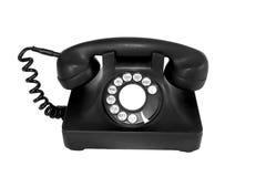 Schwarzes Weinlesetelefon Lizenzfreie Stockbilder