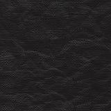 Schwarzes zerknittertes Papierblatt stock abbildung