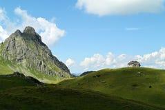 Schwarzhorn & Zollwachhütte, Montafon, Austria Stock Image