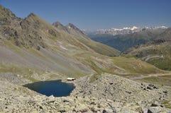 Schwarzmoossee, een meer in Oostenrijk Stock Afbeelding