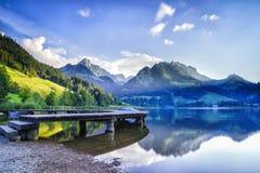 Schwarzsee在瑞士 库存图片