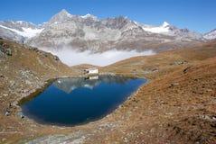Schwarzsee Schweiz Arkivfoton