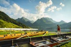 Schwarzsee in Switzerland Stock Image