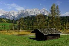 Schwarzsee Wilder Kaiser, Tirol, Österrike Royaltyfri Foto