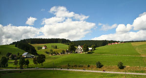 Schwarzwald / Black Forest. Black Forest. Beautiful landscape with a small house and the road stock photo