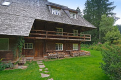 Schwarzwald house. Part of a Schwarzwald house in Germany stock photo