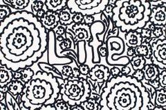 Schwarzweißabbildung: Blumen und Leben stockfotos
