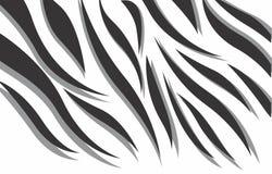 Schwarzweiss-abstrakter Vektorentwurf des Zebras 3d stockfotos