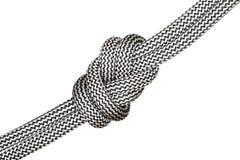 Schwarzweiss-acht Knoten Stockbild