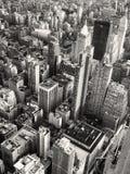 Schwarzweiss-Ansicht von Midtown Manhattan in New York stockfotografie