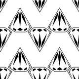 Schwarzweiss-Artdiamanthintergrund Geometrisches nahtloses Muster mit Diamanten Lizenzfreie Stockbilder