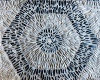 Schwarzweiss büßen Sie Hexagon lizenzfreie stockfotografie