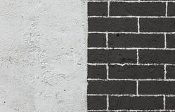 Schwarzweiss-Backsteinmauer Stockbild