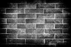 Schwarzweiss-Backsteinmauer Stockfotografie