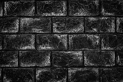 Schwarzweiss-Backsteinmauerbeschaffenheit - städtischer Hintergrund des Schmutzes Lizenzfreies Stockfoto