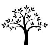 Schwarzweiss-Baum Vektor Stockfoto