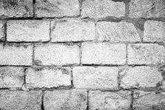 Schwarzweiss-Beschaffenheit der alten Wand für Hintergrund Stockfotos