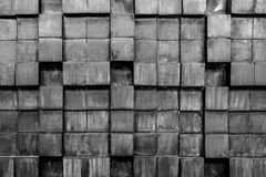Schwarzweiss-Beschaffenheit der hölzernen Planken Stockfotografie