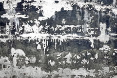 Schwarzweiss-Betonmauer mit geschädigter Gips-Schicht Backgro Lizenzfreies Stockfoto