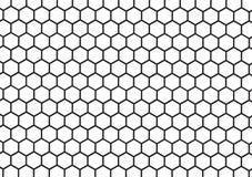 Schwarzweiss-Bienenwabenzusammenfassung geometrisch Lizenzfreie Stockfotografie
