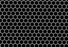 Schwarzweiss-Bienenwabenzusammenfassung geometrisch Stockbild