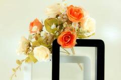 Schwarzweiss-Bilderrahmen Stockfoto
