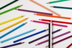 Schwarzweiss-Bleistiftspitze der Zeichenstifte Lizenzfreie Stockbilder