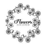 Schwarzweiss-Blumenauslegung Stockbilder