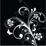 Schwarzweiss-Blumenhintergrund Lizenzfreie Stockbilder