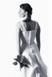 Schwarzweiss-Braut Stockfoto