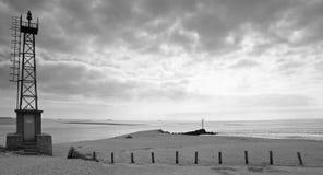 Schwarzweiss-Bretagne-Landschaft lizenzfreie stockfotos