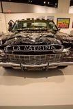 Schwarzweiss--Chevrolet- Impalalowrider 1968 nannte EL Muertor Lizenzfreie Stockfotos