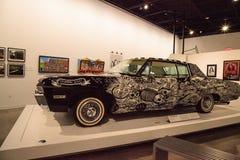 Schwarzweiss--Chevrolet- Impalalowrider 1968 nannte EL Muertor Stockfotografie