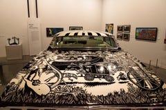 Schwarzweiss--Chevrolet- Impalalowrider 1968 nannte EL Muertor Lizenzfreie Stockbilder