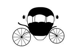 Schwarzweiss--Cinderella Fairytale-Wagen Vektor illustrati lizenzfreie abbildung