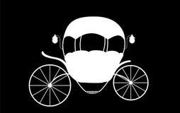 Schwarzweiss--Cinderella Fairytale-Wagen Vektor illustrati vektor abbildung