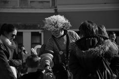 Schwarzweiss-Clown Lizenzfreie Stockbilder