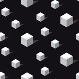Schwarzweiss--conncept geomerty nahtloses Muster Stockfotografie