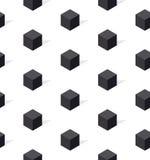 Schwarzweiss--conncept geomerty nahtloses Muster Stockbilder