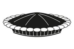 Schwarzweiss-Danksagungsfleischpasteteschattenbild lizenzfreie abbildung
