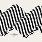 Schwarzweiss-Design Muster mit optischer Illusion Abstrakter geometrischer Hintergrund 3d Auch im corel abgehobenen Betrag vektor abbildung