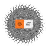 Schwarzweiss-Design Muster mit optischer Illusion Abstrakter gestreifter Hintergrund Auch im corel abgehobenen Betrag stock abbildung