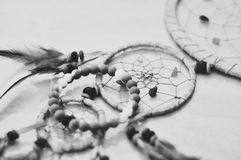 Schwarzweiss--dreamcatcher stockbilder