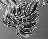 Schwarzweiss-Dschungelhintergrund Lizenzfreie Stockbilder